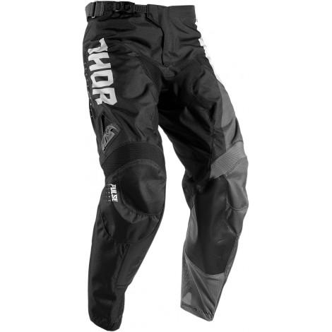 Motokrosové kalhoty Thor PULSE AKTIV WHITE/BLACK PANT 2017