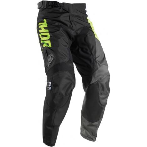 Motokrosové kalhoty Thor PULSE AKTIV LIME/BLACK PANT 2017
