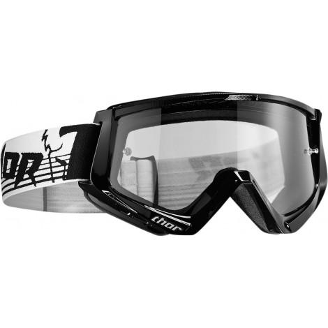 Motokrosové brýle Thor CONQUER BLACK/WHITE GOGGLE 2017