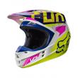 Motokrosová helma Fox Racing V1 Falcon navy/white 2017