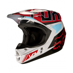 Motokrosová helma Fox Racing V1 Falcon grey/red 2017