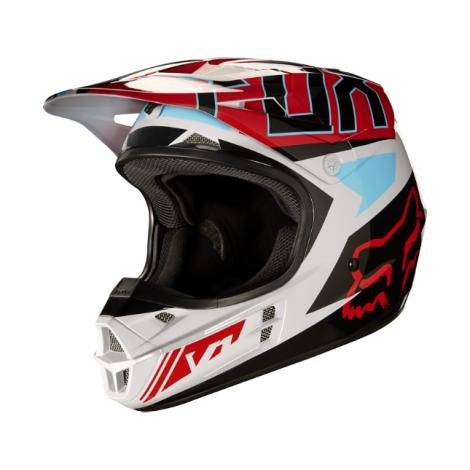 Motokrosová helma Fox Racing V1 Falcon grey/red 2017