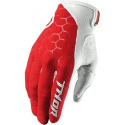 Motokrosové rukavice Thor DRAFT INDI RED/WHITE GLOVES 2017