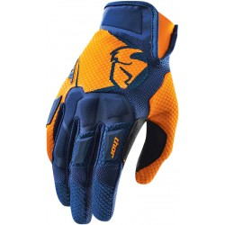 Motokrosové rukavice Thor FLOW NAVY ORANGE GLOVES 2017