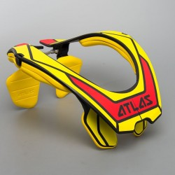 Chránič krční páteře ATLAS AIR HI-VIZ, Yellow motokros/enduro (žlutý)