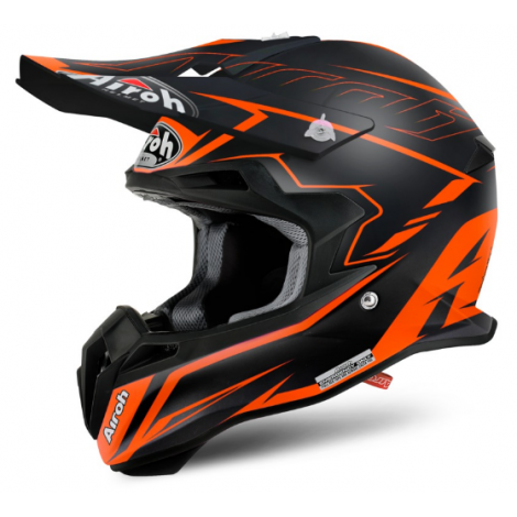 Motokrosová helma AIROH TERMINATOR 2.1S SLIM černá/oranžová 2017