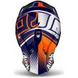 Motokrosová helma AIROH TERMINATOR 2.1S CLEFT bílá/modrá/oranžová 2017