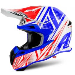 Motokrosová helma AIROH TERMINATOR 2.1S CLEFT bílá/modrá/červená 2017
