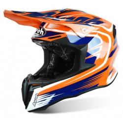 Motokrosová helma AIROH TWIST MIX oranžová/modrá/bílá 2017