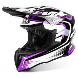Motokrosová helma AIROH TWIST MIX fialová/černá/bílá 2017