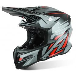 Motokrosová helma AIROH TWIST Avanger šedá/červená 2017