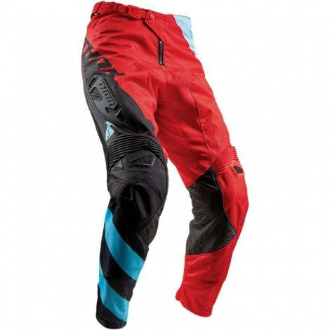 Motokrosové kalhoty Thor FUSE AIR RIVE RED/BLUE PANT 2018