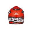 Motokrosová MX přilba Cassida-ČR, Cross Cup (Červená fluo/Bílá Perleť/Černá)