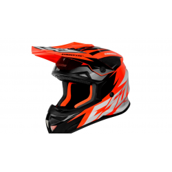 Motokrosová MX přilba Cassida-ČR, Cross Cup Two (Oranžová fluo/bílá/šedá/černá)