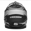 Motokrosová MX přilba Cassida-ČR, Cross Cup Two (Bílá/žlutá fluo/šedá/černá)