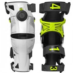 MOBIUS X8 kolenní ortézy pár pro motokros, enduro bílá/žlutá dětské