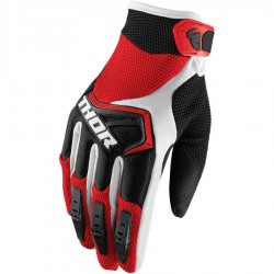 Motokrosové rukavice Thor SPECTRUM RED/BLACK/WHITE GLOVES 2018