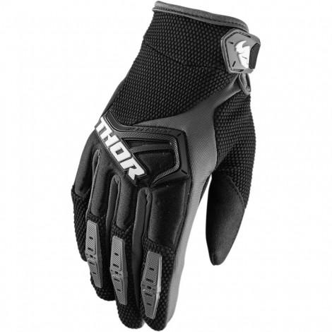 Motokrosové rukavice Thor SPECTRUM BLACK GLOVES 2017