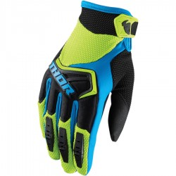Motokrosové rukavice Thor SPECTRUM GREEN/BLACK/BLUE GLOVES 2018