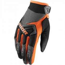 Motokrosové rukavice Thor SPECTRUM CHARCOAL/ORANGE GLOVES 2018