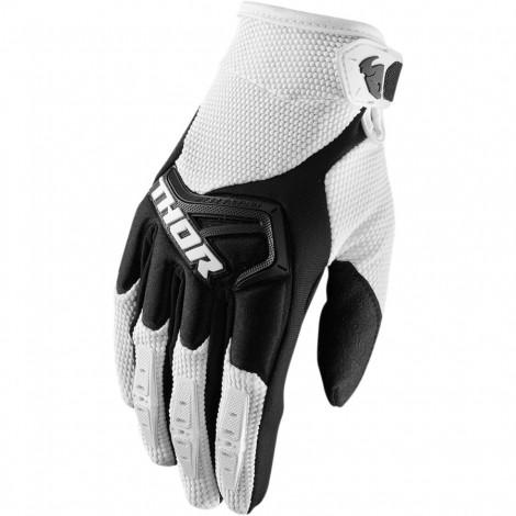 Motokrosové rukavice Thor SPECTRUM WHITE GLOVES 2017