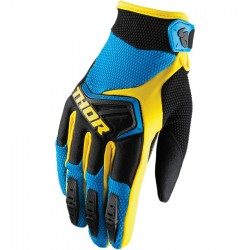 Motokrosové rukavice Thor SPECTRUM BLUE/BLACK/YELLOW GLOVES 2018