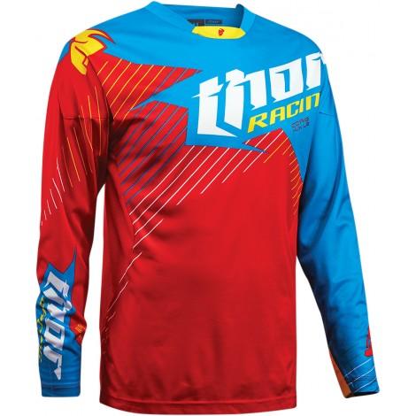 Motokrosový dres Thor CORE HUX RED/CYAN  2016
