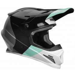 Motokrosová helma Thor SECTOR S9 BOMBER BLACK/MINT MIPS HELMET 2019