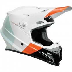 Motokrosová helma Thor SECTOR S9 BOMBER WHITE/RED/ORANGE  MIPS HELMET 2019