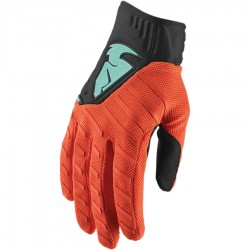 Motokrosové rukavice Thor REBOUND RED ORANGE/BLACK GLOVES 2019
