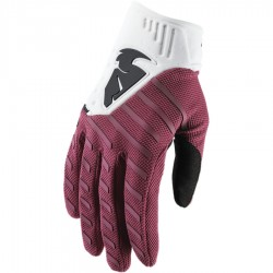 Motokrosové rukavice Thor REBOUND RED MAROON/WHITE  GLOVES 2019