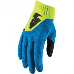 Motokrosové rukavice Thor REBOUND ELECTRIC BLUE/ACID GLOVES 2019