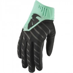 Motokrosové rukavice Thor REBOUND BLACK/MINT GLOVES 2019