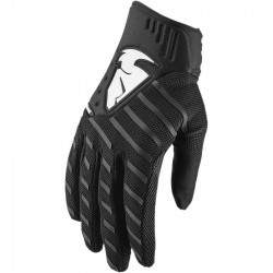 Motokrosové rukavice Thor REBOUND BLACK GLOVES 2019