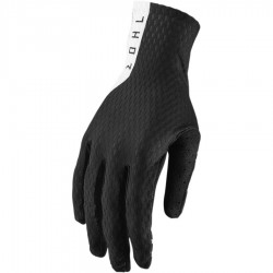 Motokrosové rukavice Thor AGILE BLACK/WHITE GLOVES 2019