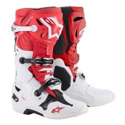 Motokrosové boty ALPINESTARS TECH 10 MX19 boty - červená/bílá/černá 2019