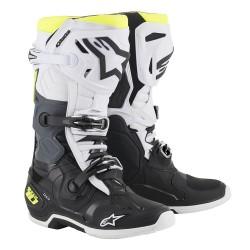 Motokrosové boty ALPINESTARS TECH 10 MX19 boty - černá/bílá/žlutá fluo 2019