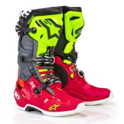 Motokrosové boty ALPINESTARS TECH 10 MX19 boty - Anaheim Red Black Yellow Flo 2019
