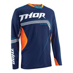 Motokrosový dres Thor S5 Core Bend black/flo Orange MX/Enduro