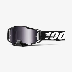 Motokrosové brýle 100% ARMEGA Black se zrcadlovým sklem 2019