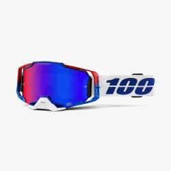 Motokrosové brýle 100% ARMEGA Genesis HiPER Blue/Red Mirror se zrcadlovým sklem 2019