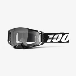 Motokrosové brýle 100% ARMEGA Black s čirým sklem 2019