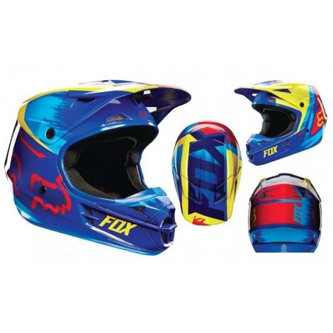 Motokrosová helma Fox Racing V1 Race green 2017