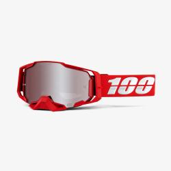 Motokrosové brýle 100% ARMEGA War Red HiPER® Silver Mirror se zrcadlovým sklem 2020