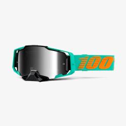Motokrosové brýle 100% ARMEGA Clark Silver Mirror se zrcadlovým sklem 2020