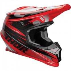 Motokrosová helma Thor SECTOR S9 WRAP RED/BLACK  HELMET 2019