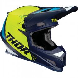 Motokrosová helma Thor SECTOR S9 BLADE NAVY/ACID HELMET 2019