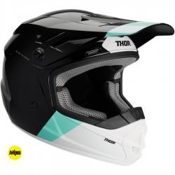 Motokrosová helma dětská Thor SECTOR MIPS BOMBER BLACK/MINT HELMET 2020