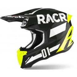 Motokrosová helma Airoh TWIST 2.0 RACR 2020, - TW2RA17 (ČERNÁ/BÍLÁ/FLUO)