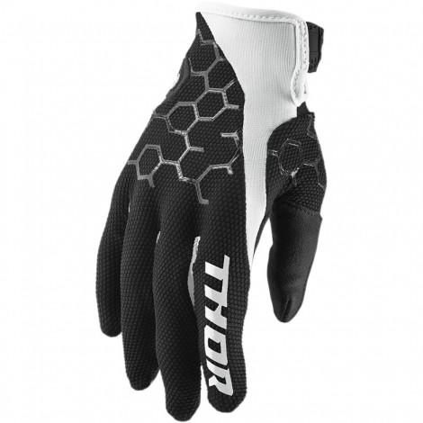 Motokrosové rukavice Thor DRAFT INDI BLACK GLOVES